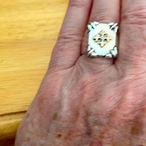 The Great Frog Shield Ring Fleur De Lis & Diamond